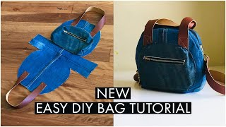 DIY BAG/POCKET HANDBAG/CROSSBODY BAG OUT OF OLD JEANS/DIY JEANS BAG ZIPPER /BOLSA DIY/DIY กระเป๋า
