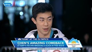 Nathan Chen Today Show Olympic Interview | LIVE 2-17-18