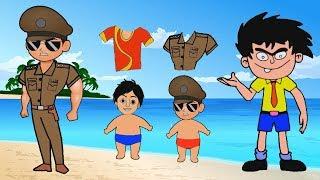 Little Singham Wrong Body Shirt Puzzle Games W Bandbudh Aur Budbak Shiva For Kids Finger Family Katv