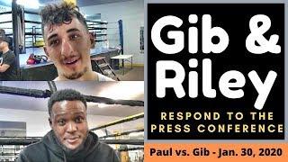 AnEsonGib & Viddal react to the Jake Paul Press Conference..Gib says Jake's followers lick his ego!