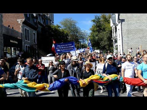 Manifestation anti masque Montréal Québec 12 Septembre, 2020