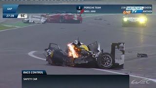 Mark Webber Matteo Cressoni Huge Crash 2014 WEC Season Finale in Sao Paulo