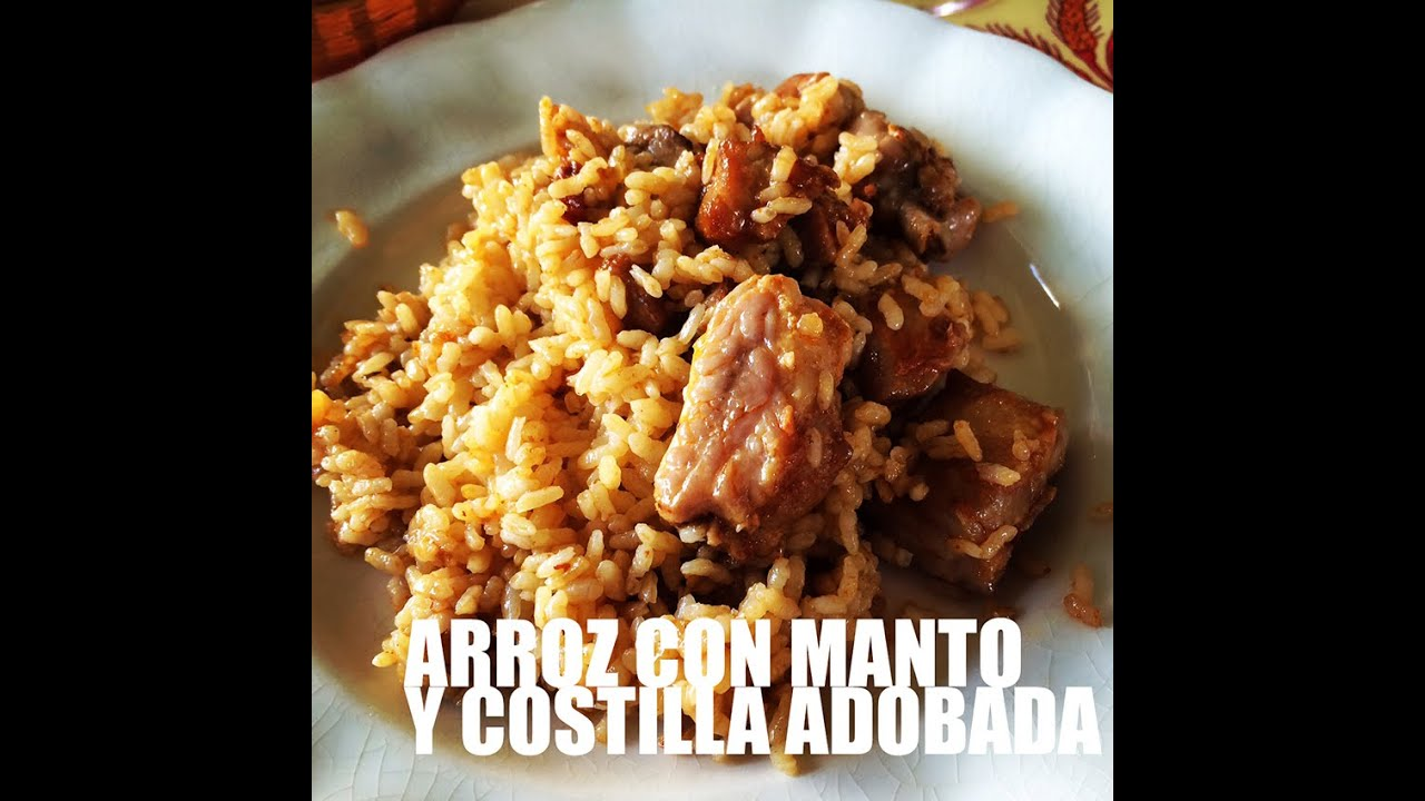 Arroz con Manto y Costilla Adobada