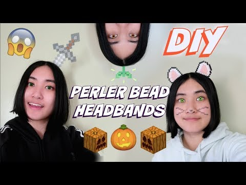 Last Minute Halloween Perler Bead Headbands (EASY)