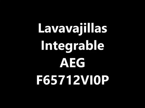 Lavavajillas Integrable AEG F65712VI0P