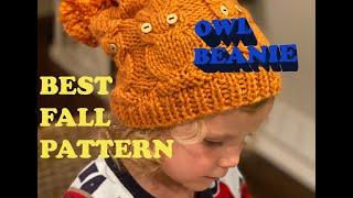 BEST FALL KNITTING PATTERN: OWL HAT