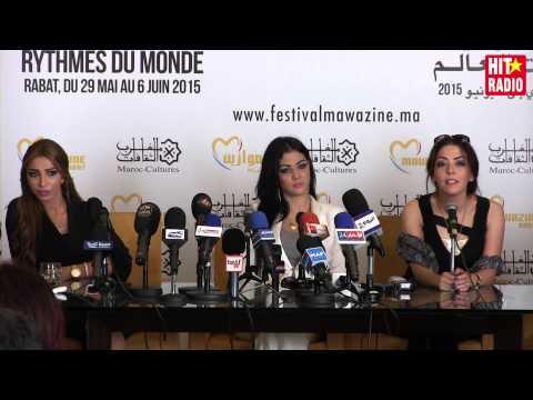 Conférence de presse avec Ibtissam Tiskat / Dounia Batma à Mawazine 2015 sur HIT RADIO