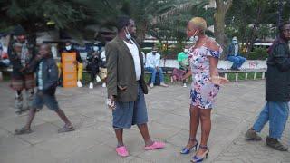 Drama in Nairobi CBD as Fikita  meets his crush