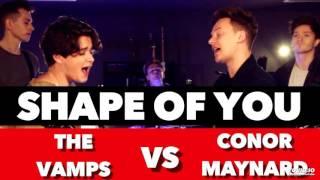Ed Sheeran Shape Of You SING OFF Connor Maynard Vs The Vamps MP3