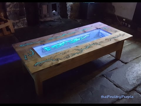 DIY Pallet Coffee Table – Glow in the dark wood projects with  Lichtenberg