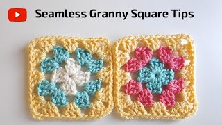 How To Crochet The Perfect Granny Square For Beginners (Seamless Ending)