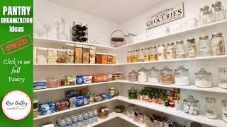 Pantry Organization | How to organize a pantry | Pantry Make over Ideas