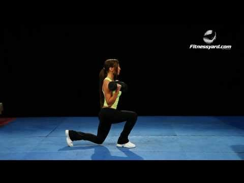 Dumbbell Biceps Curl Reverse Lunges