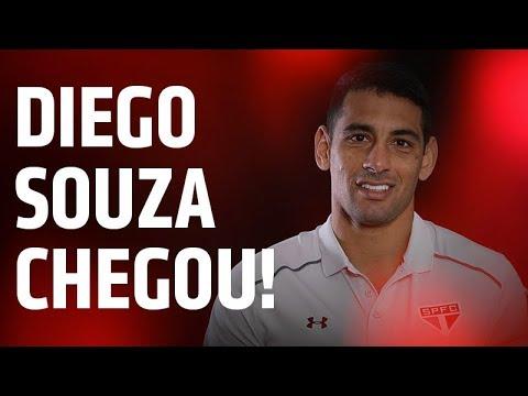 CHEGOU! AS PRIMEIRAS PALAVRAS DE DIEGO SOUZA NO CT DA BARRA FUNDA | SPFCTV