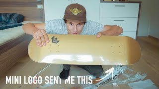 A Gift from Mini Logo Skateboards // A DREAM FOR ME !!