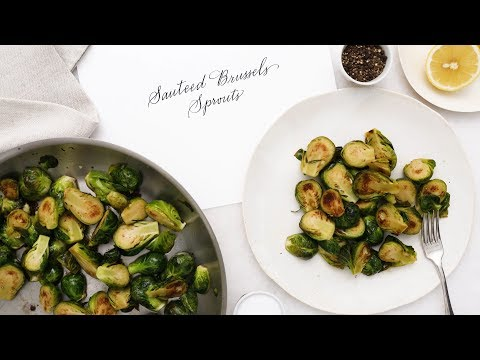 Skillet Sauteed Brussels Sprouts- Martha Stewart