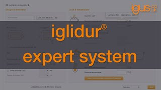 How to use the igus® iglidur® expert system