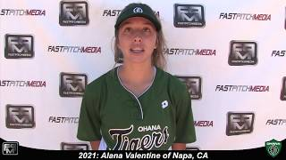 2021 Alana Valentine Middle Infield and Outfield Softball Skills Video