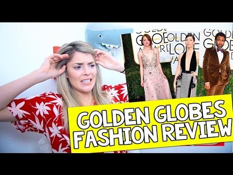 GOLDEN GLOBES FASHION REVIEW 2017 // Grace Helbig