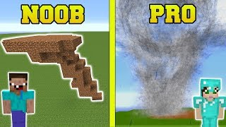 Minecraft: NOOB VS PRO!!! - TORNADOES IN MINECRAFT!