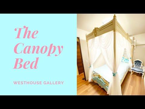 ヨーロピアンクラシック、ロココ調スタイルを忠実に再現した天蓋ベッド