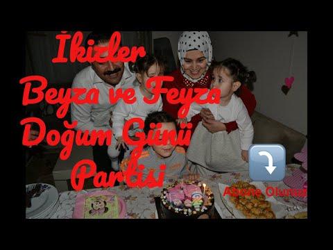 İkizler Beyza ve Feyza'nın kardeşlerin doğum günü partisi.