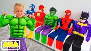 فلاد يتحول إلى أبطال خارقين | جمع الفيديو للأطفال