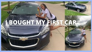 I BOUGHT MY FIRST CAR! | ADVICE FOR BUYING A USED CAR | 2014 Chevy Malibu LS