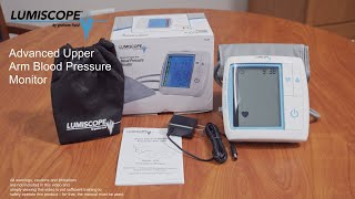 How to Use the Upper Arm Blood Pressure Monitor Youtube Video Link