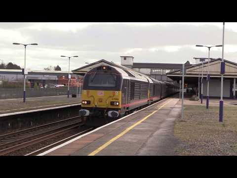 The Royal Train passes Newton Abbot with DB Cargo 67006 & 67…
