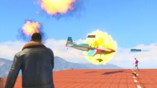PLANES vs EXPLOSIVES! - GTA 5 Funny Moments #641