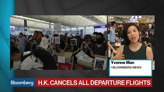 Hong Kong Protesters Force Airport to Cancel Departing Flights