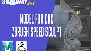 Моделирование 3d модели панно для чпу ( maya и zbrush speed video)