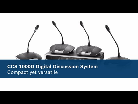 Bosch CCS-1000 Digital Audio Conference System