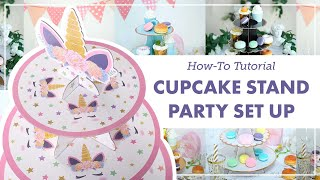 How To Set Up A Unicorn Cupcake Stand 🦄 | BalsaCircle.com Tutorial