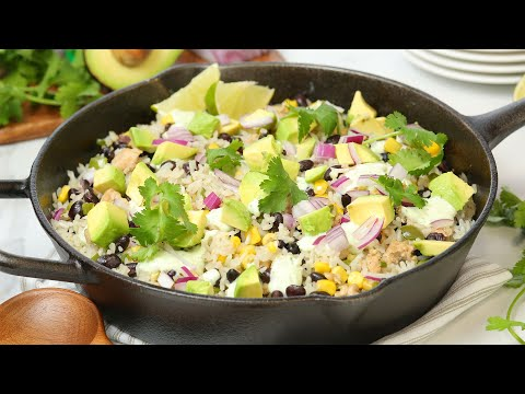 Mexican Chicken & Rice Skillet | Healthy + Quick + Easy