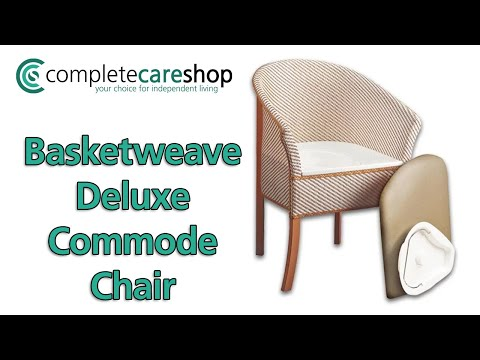 Basketweave Commode Chair In A Bedroom