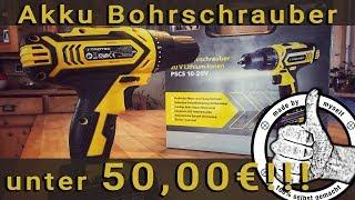 Günstiger Akku Schrauber Bohrschrauber Trotec PSCS, Unboxing, Test + Gewinnspiel!!!