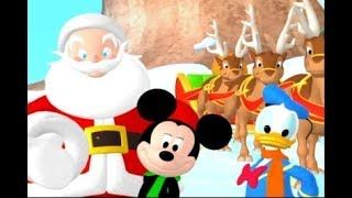 Mickey and Donal Santa Claus is Coming to Town Kids Christmas Song.