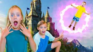 Magic Portal to a Secret World! Escape the Dragon! Kids Fun TV