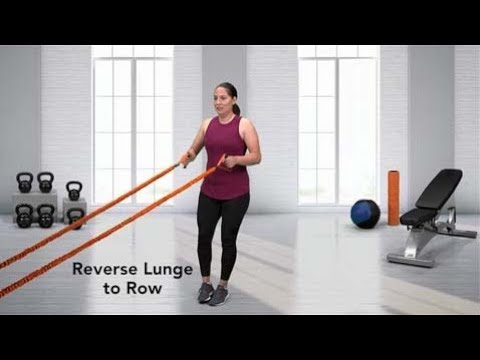 Resistance Band Alternating Reverse Lunge to Row