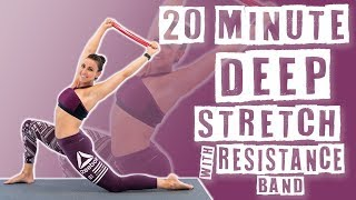 20 Minute Deep Stretch with Resistance Band by Sydney Cummings