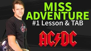 How to play Miss Adventure on Guitar - AC/DC Guitar Lesson