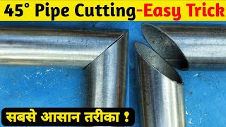 How To Cut Steel Pipe At 45° Without Cut Off Machine