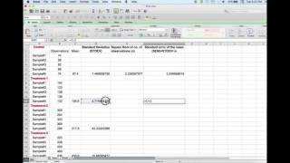 Hmongbuy standard error of the mean in google sheets how to calculate standard deviation and standard error and add error bars in graphs using ccuart Images