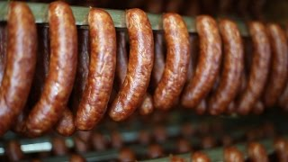 How Virginia Smoked Sausage is Made at Edwards
