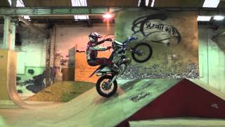 Graham Jarvis training at The Works skate park Leeds