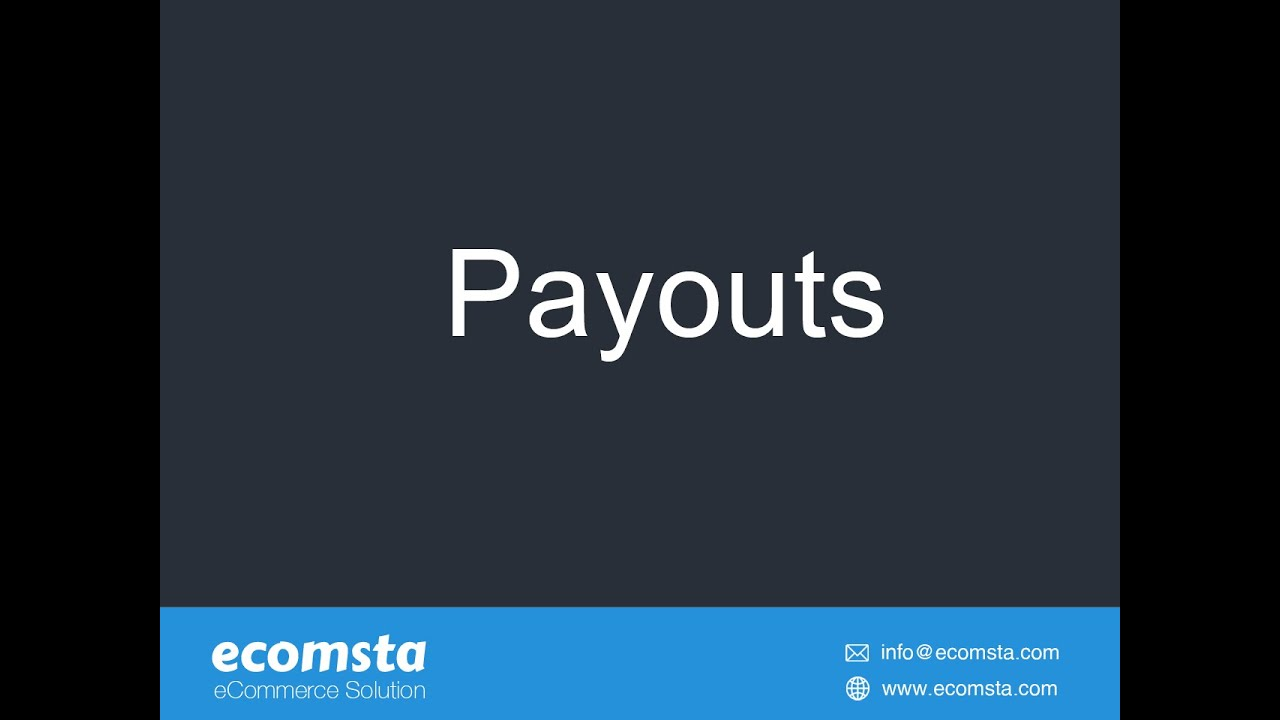 How to pay commissions to your affiliates in eComsta?