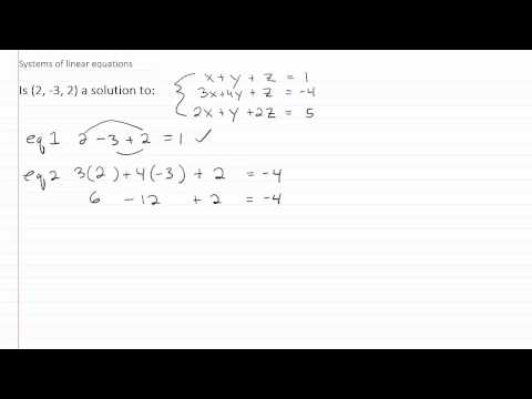 Solving Linear Systems p1