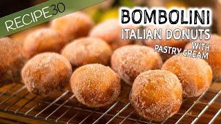 Bombolini (Italian Donuts With Pastry Cream)